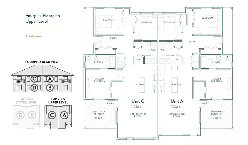 Fourplex Condos Floorplan